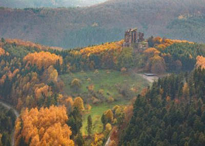 Herbst an der Burg Fleckenstein