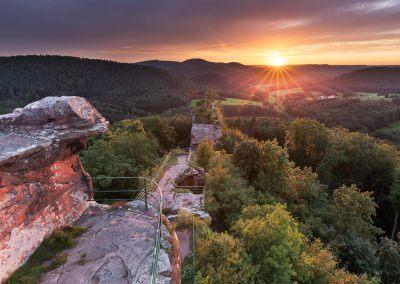 Sonnennutergang am Drachenfels in Busenberg