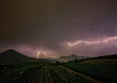 Gewitter und Blitze am Rande des Pfälzerwaldes