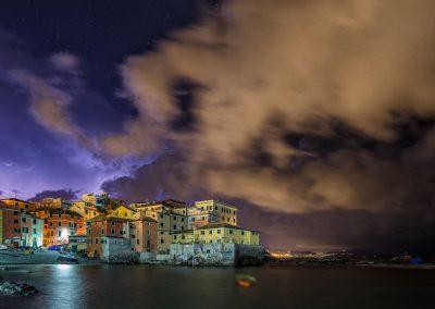 Gewitter über Boccadasse bei Genua