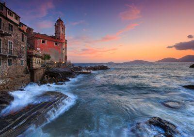 Sonnenuntergang Tellaro Ligurien