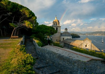 Ein Regenbogen in Porto Venere